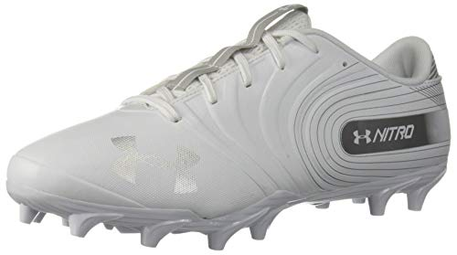 Under Armour Men's Nitro Low MC Football Shoe, White...