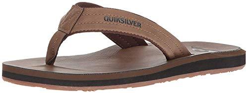 Quiksilver Men's Carver Nubuck Sandal, TAN/Solid, 9