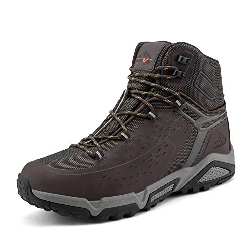 NORTIV 8 Men's Waterproof Hiking Boots Outdoor Mid Trekking...