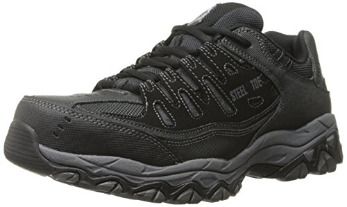 Skechers for Work Men's Cankton-U Industrial Shoe,black,12...