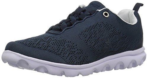 Propet Women's TravelActiv Walking Shoe, Navy, 5 M US