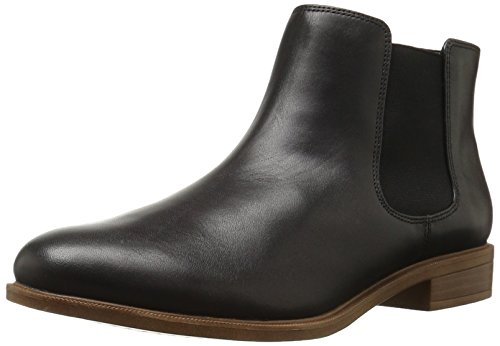 Clarks Women's Taylor Shine Chelsea Boot, Black Leather, 7.5...
