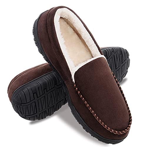 festooning Mens Slippers House Shoes with Memory Foam...