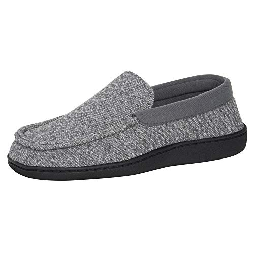 Hanes Men's Slippers House Shoes Moccasin Comfort Memory...