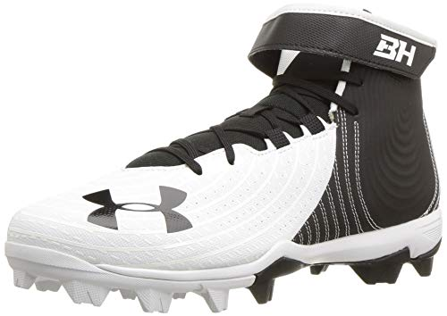 Under Armour Men's Harper 4 Mid RM Baseball Shoe, White...