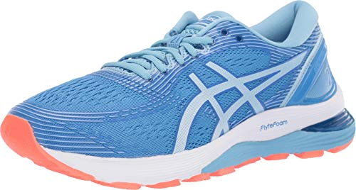ASICS Women's Gel-Nimbus 21 Running Shoes, 5M, Blue...