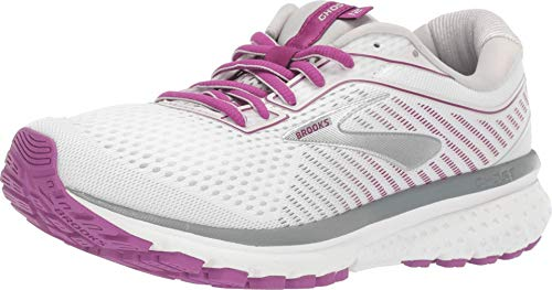 Brooks Ghost 12 White/Grey/Hollyhock 5 B (M)