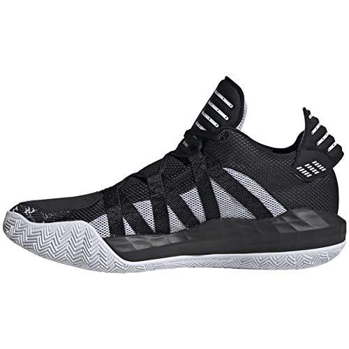 adidas Dame 6 Shoe - Unisex Basketball Core Black/White
