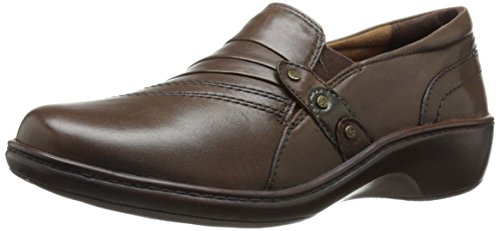 Aravon Women's Danielle-AR Flat,Dark Brown,6 B US
