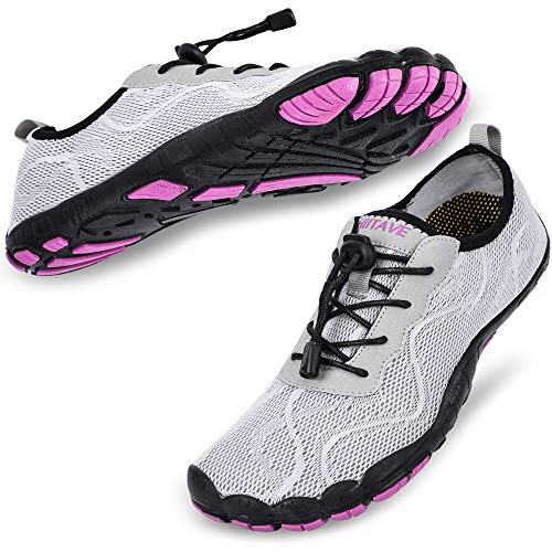 hiitave Women Water Shoes Quick Dry Barefoot Aqua Socks...