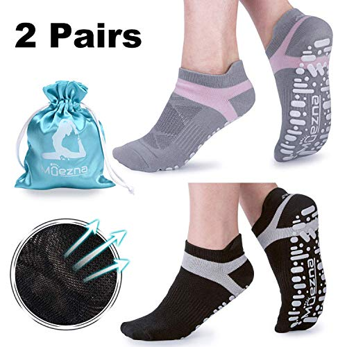 Muezna Non Slip Yoga Socks for Women, Anti-Skid Pilates,...