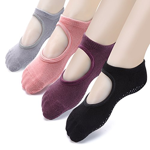 Yoga Socks Non Slip Skid Pilates Ballet Barre with Grips for...