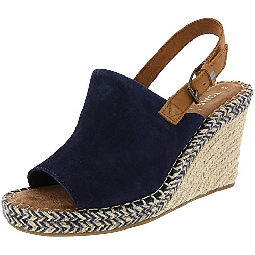 TOMS Women's Monica Slingback Wedge Sandal Navy...