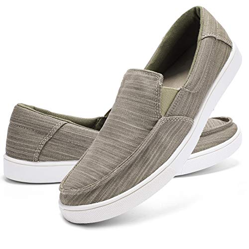 ALEADER Mens Slip On Shoes Casual Canvas Sneakers Summer...