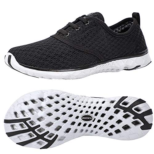 ALEADER Men's Stylish Quick Drying Water Shoes Black 10.5...