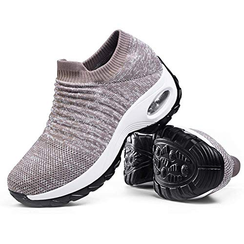 Women's Slip on Walking Shoes - Comfortable Loafers Casual...