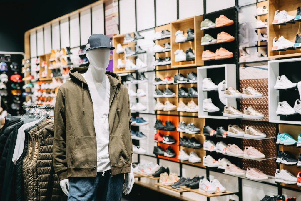Mannequin Dressed In Male Man Casual Clothes In Store Of Shoppin