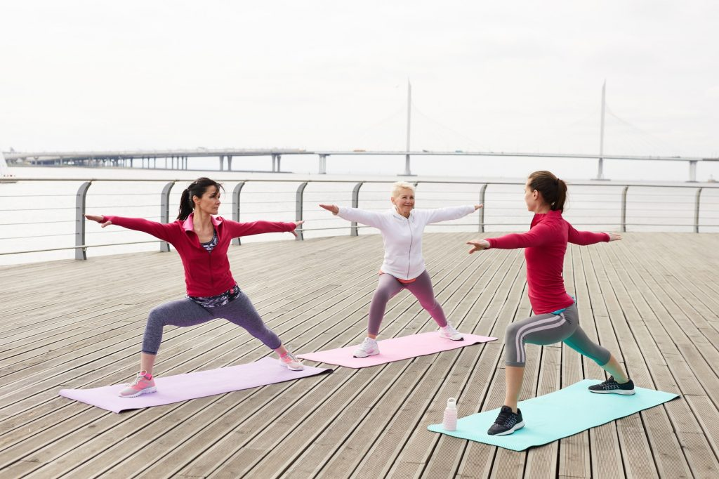 Yoga Class by Water